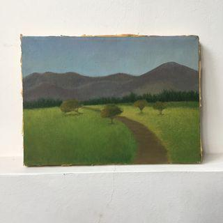 Old Small Painting from Amateur Art Student