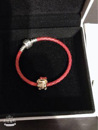 Pandora golden piggy bracelet