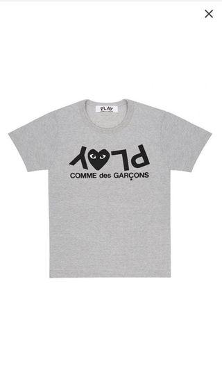 CDG Play Tee Grey (Authentic)