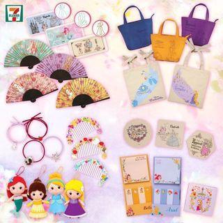 🚚 香港代購 7-11 迪士尼 包包 頭飾 娃娃 扇子 夾子