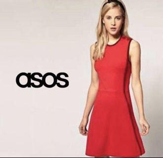 🚚 Was $28! ASOS   Beautiful Red Skater Dress