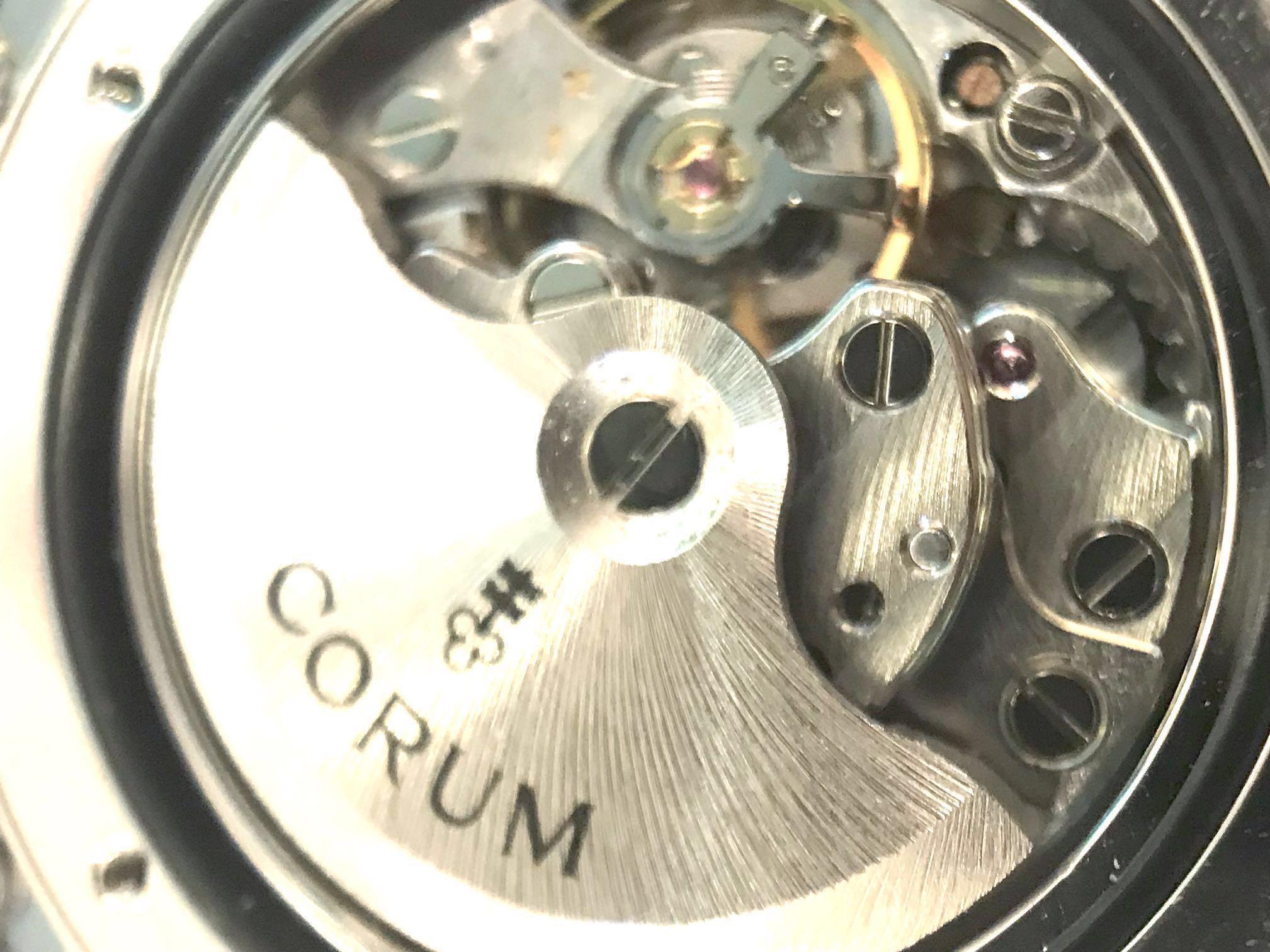 👍 U won't another At this price! Automatic Corum Original 18k whitegold with diamonds bezel & blue MOP diamonds dials