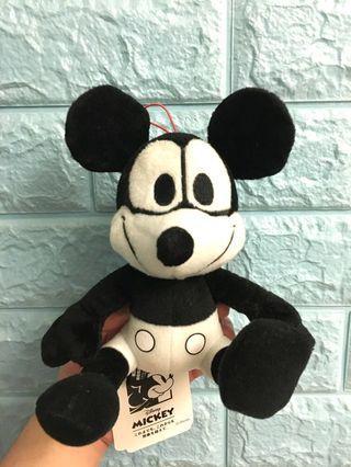 Disney Mickey Mouse 米奇老鼠 黑白毛公仔 Vintage