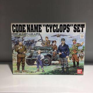 "Bandai U.C. Hard Graph Code Name ""Cyclops"" Set"