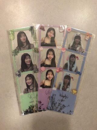 RED VELVET TRANSPARENT PHOTOSTRIPS