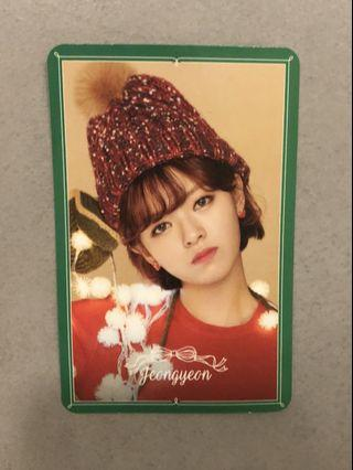 TWICE JEONGYEON MERRY AND HAPPY SPECIAL PHOTOCARD
