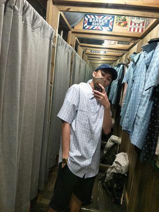 古著短袖襯衫