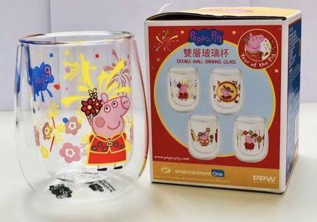 Peppa pig 玻璃杯 peppa pig 杯 小豬佩琪 粉紅小豬 glasses
