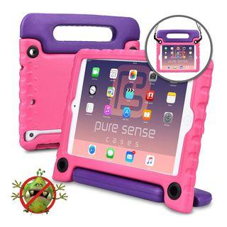 Pure Sense Buddy [Anti-Microbial Kids Case] Child Proof case for iPad Mini 3, iPad Mini 2, iPad Mini 1 | Rugged Cover, Stand, Handle, Shoulder Strap (Pink) #1282