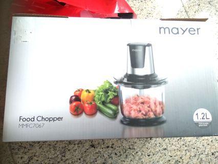 New Mayer Food chopper 1.2l , 1yr warranty