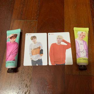[WTS] SEVENTEEN THE SAEM JAPAN HANDCREAM AND PHOTOCARDS