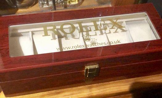 Genuine Luxury Rolex 6-Watch display Chest