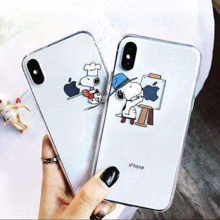 🚚 iPhone Clear Snoppy Case