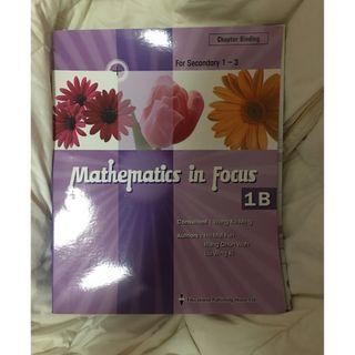 MATHEMATICS IN FOCUS 1B 98% new (chapter 7-13)
