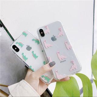 iPhone Clear Cute Dinosaur Case