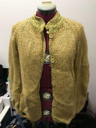 Vintage Yellow mustard oversized knit wool.