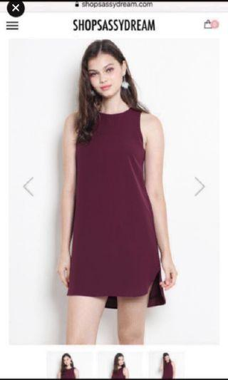 SSD Shopsassydream Andie dress XS in burgundy
