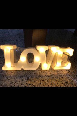 """LOVE"" LED Marquee Sign Alphabet Lights (Home / Wedding decor)"