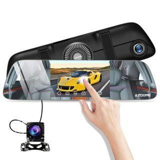 "AZDOME Mirror Dash Cam 5.5"" IPS 1080P FHD Touch Screen Dual Lens Car Camera,720P AHD Backup Reverse Camera 170 Degree Wide Angle with G-Sensor,Super Night Vision,Parking Monitor,Loop Recording   #1283"