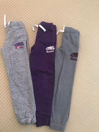 Girls Roots track pants