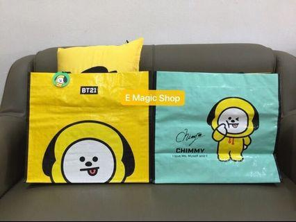 【READY STOCK】BT21 Official HomePlus WaterProof Eco Bag