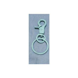 粉藍 鑰匙扣 吊飾 手作 素材
