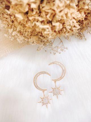Moon Embrace The Star Earrings