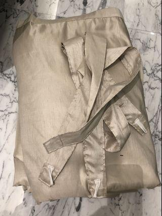 🚚 Curtains Champagne silk material