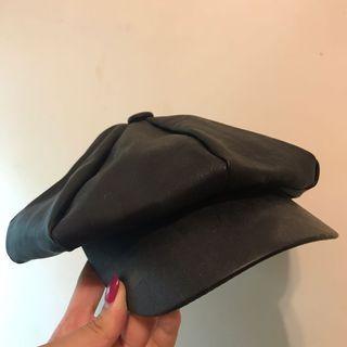 皮製報童帽