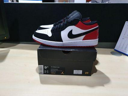 Nike Air Jordan 1 Low Black Toe not mid hi bred chicago