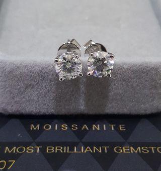 Genuine moissanite 0.5ct earrings