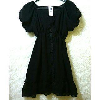 Mididress / dress hitam / black dress