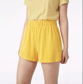 Monki mustard alma shorts