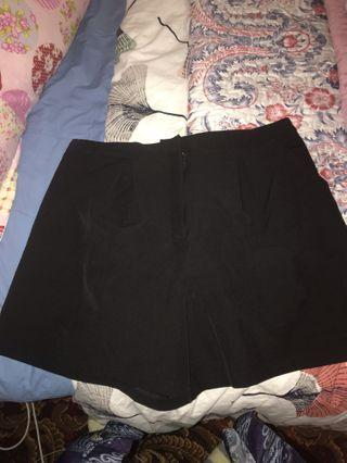 Showpo black tailored shorts