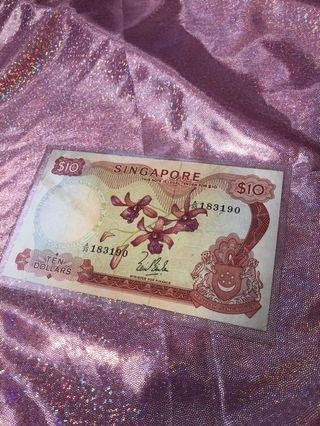 Singapore Orchid series currency $10