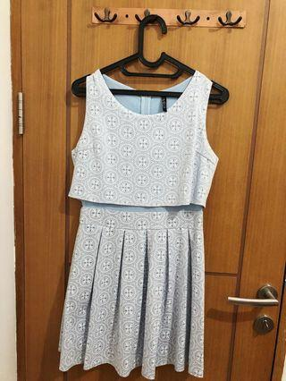 Casual Light Blue Dress