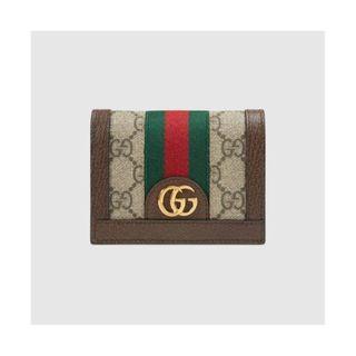 【  GUCCI 古馳】GUCCI 523155 Ophidia GG 卡夾/零錢包(棕色)全新