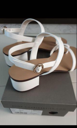 Charles and Keith White Sandals