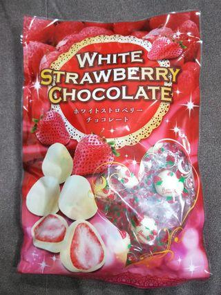 🚚 日本境內限定乾燥草莓白巧克力