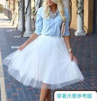 韓版仙女白紗裙