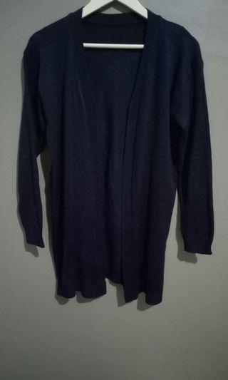 Navy long Cardigan knit rajut #cardigan #knitwear #mauvivo