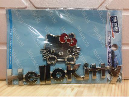 (現貨)Hello Kitty立體車貼