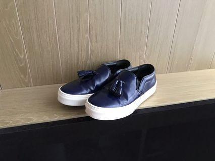 Celine Navy tassels slip on loafers shoes 深藍平底鞋波鞋