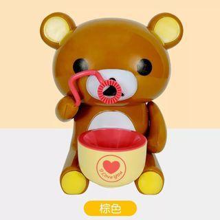 電動 可愛泡泡熊 自動吹泡泡機