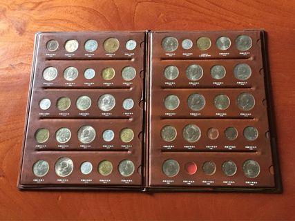 台灣38~71年硬幣全册(硬幣極新)