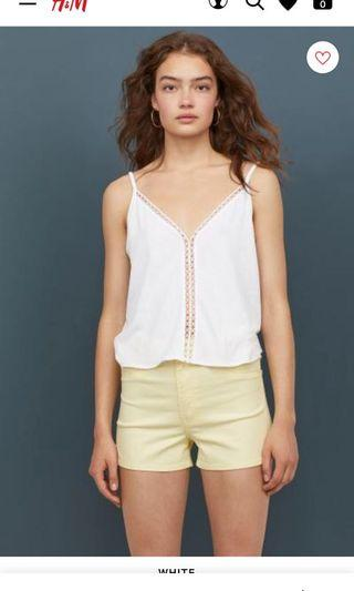 H&M White tank top