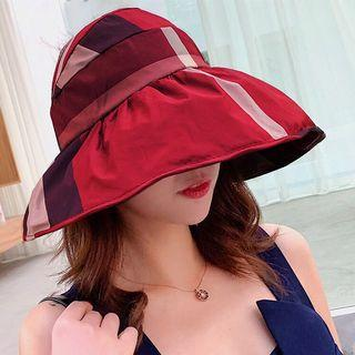 FREE 🚚: Korea style Red foldable sun hat, fashion and full coverage.Daily use and Outdoor activity