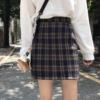 Uzzlang Plaid Skirt