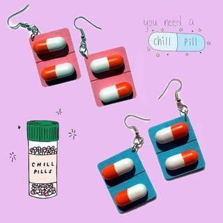 Chill pill earrings instocks