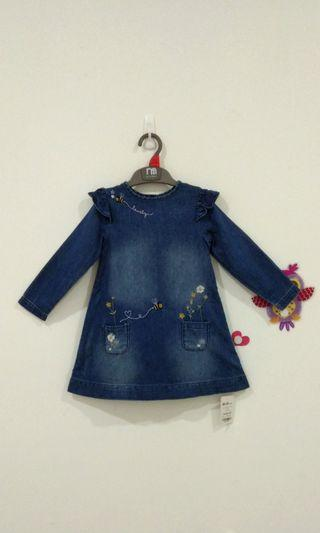 🆕18-24M Mothercare Denim Dress